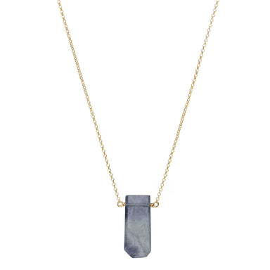 Fluorite Crystal Point Necklace - Blooming Lotus Jewelry