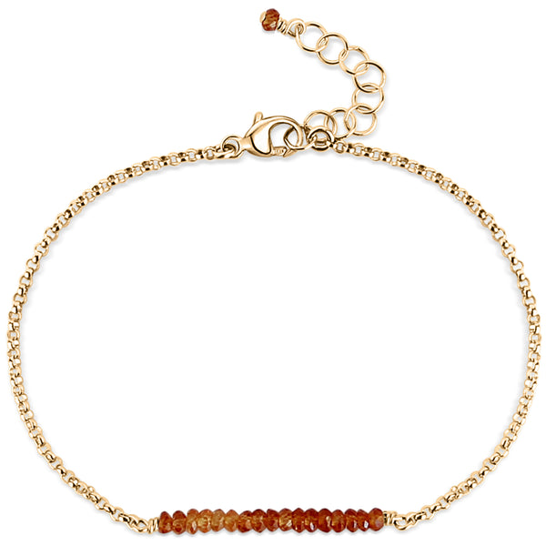 Balance Bar ~ Hessonite Garnet (gold) - Blooming Lotus Jewelry