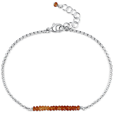 Balance Bar ~ Hessonite Garnet (sterling) - Blooming Lotus Jewelry