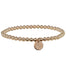 Gold Beaded Bracelet | Zodiac