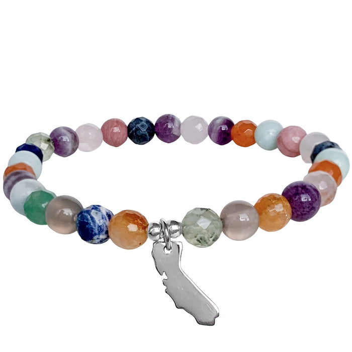 Home Sweet Home Bracelet | California | Mixed Gemstones