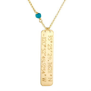 My Happy Place Bar (gold) - Blooming Lotus Jewelry
