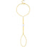 Herkimer Diamond Handchain (gold) - Blooming Lotus Jewelry