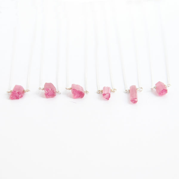 Teeny Tiny Pink Tourmaline Point (Sterling) - Blooming Lotus Jewelry