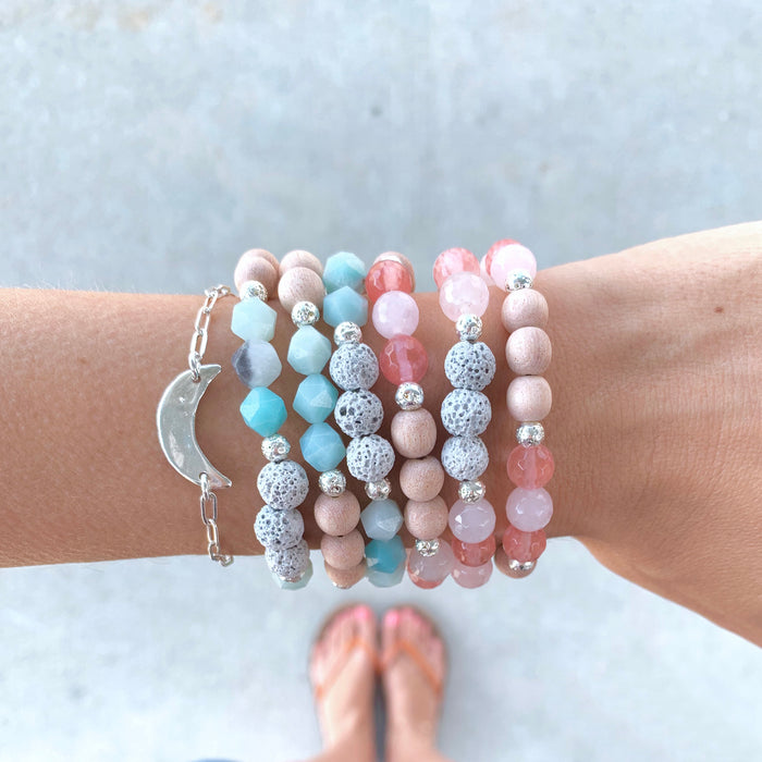 Breathe Deep | Amazonite Diffuser Bracelet - Blooming Lotus Jewelry
