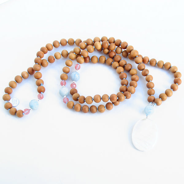 Salty Kisses Mala - Blooming Lotus Jewelry