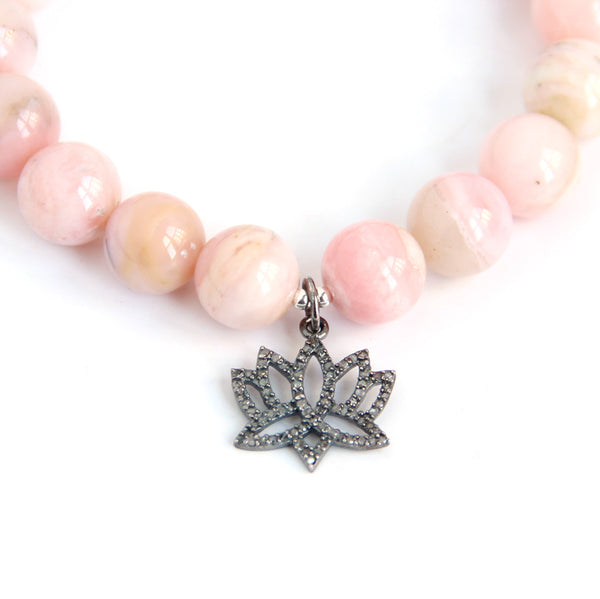 Blooming Lotus (Diamond & Peruvian Opal) - Blooming Lotus Jewelry