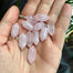 Mini Rose Quartz Point (sterling) - Blooming Lotus Jewelry