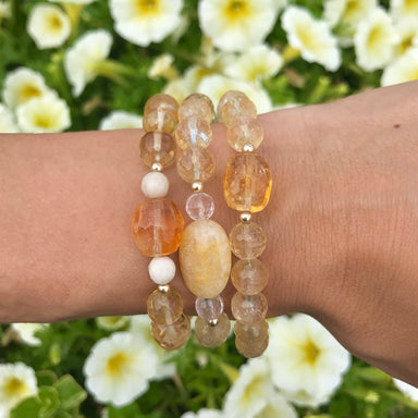 I Am Enough Bracelet | Citrine, Riverstone