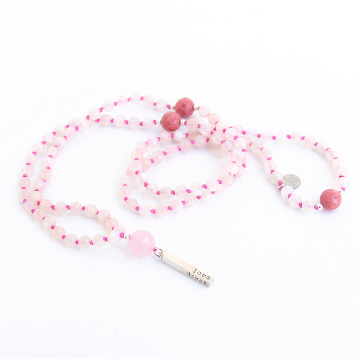 Live Laugh Love Dream Mantra Mala - Blooming Lotus Jewelry