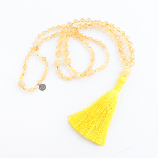 I Am Worthy Mala (Solar Plexus Chakra) - Blooming Lotus Jewelry