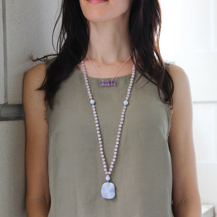 From the Heart Mala - Blooming Lotus Jewelry