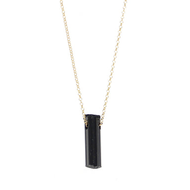 Black Tourmaline Necklace | Small | Sterling or Gold