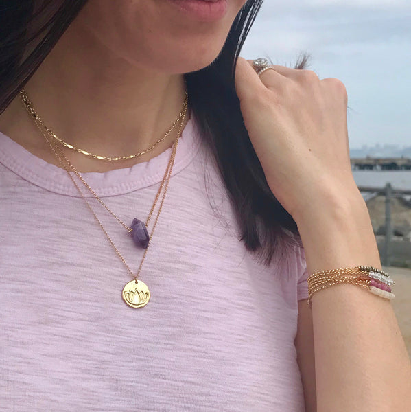 Blooming Lotus (solid 14k Gold)