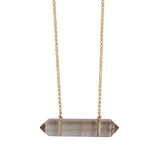 Double Terminated Crystal (gold) - Blooming Lotus Jewelry