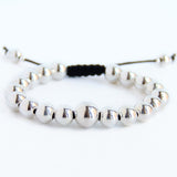 Little Black Dress Wrist Mala (sterling)