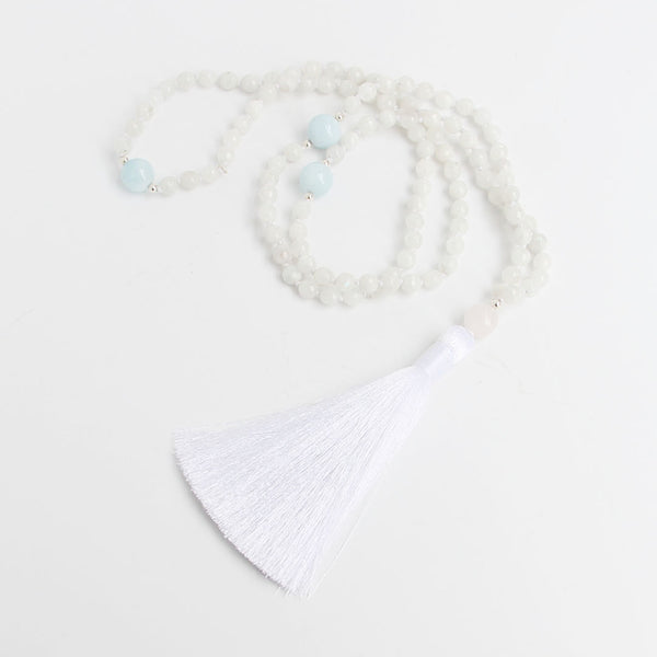 Moonstone Tassel Mala (bridal) - Blooming Lotus Jewelry