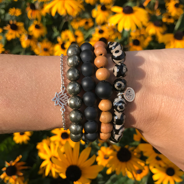 Clarity Wrist Mala - Blooming Lotus Jewelry