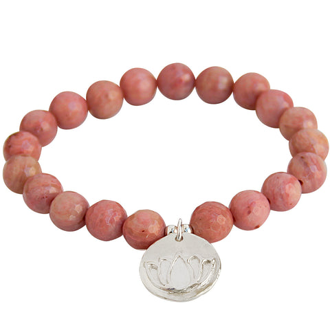 Balance Bar ~ Peach Moonstone (sterling)
