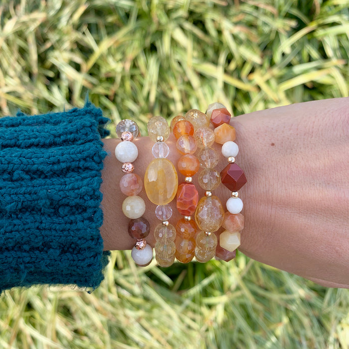 Choose Joy | Citrine, Clear Quartz, Tiger's Eye