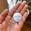 *Custom* Mantra Coin (gold) - Blooming Lotus Jewelry