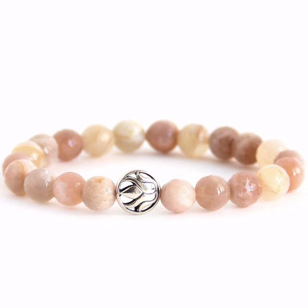 Budding Lotus (Peach Moonstone) - Blooming Lotus Jewelry