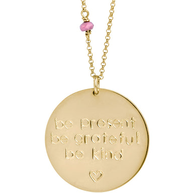 *Custom* Mantra Coin (gold classic font) - Blooming Lotus Jewelry