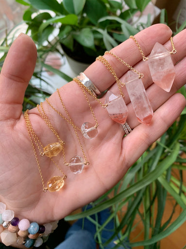 Master Healer Nugget | Clear Quartz | Gold