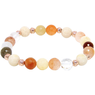 Illuminate Bracelet | Rutilated Quartz, Riverstone