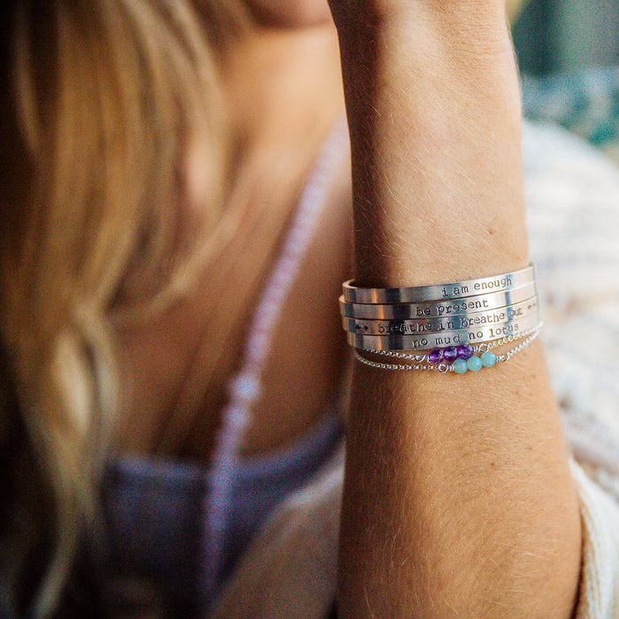 Intention Cuff (sterling) - Blooming Lotus Jewelry
