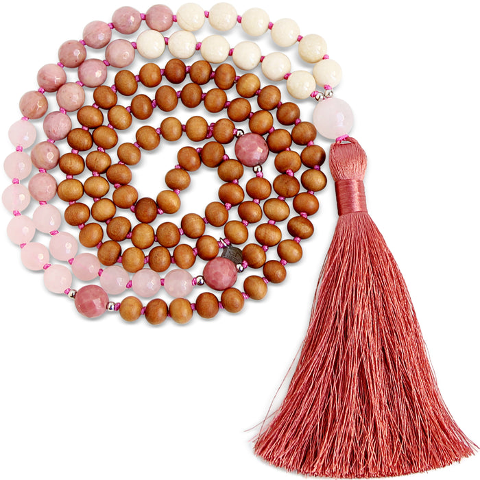 Let Love Flow Mala - Blooming Lotus Jewelry