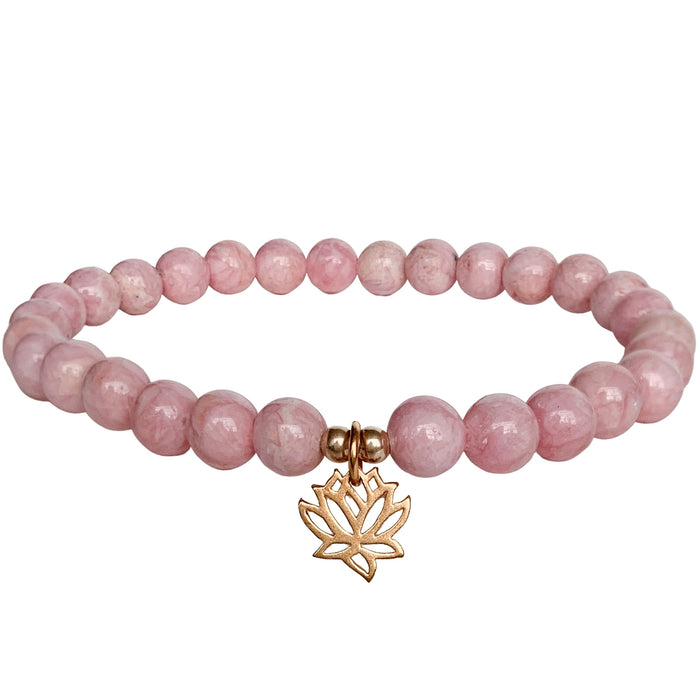Lotus Bracelet | Rhodochrosite | FINAL SALE