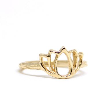 Lotus Ring gold yoga jewelry - Blooming Lotus Jewelry