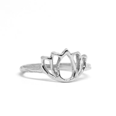 Lotus Ring silver yoga jewelry - Blooming Lotus Jewelry