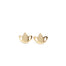 Tiny Lotus Stud Earrings gold - yoga jewelry - Blooming Lotus Jewelry