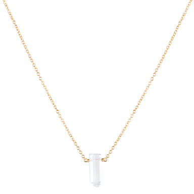Mini Master Healer Clear Quartz Necklace - gold - Blooming Lotus Jewelry