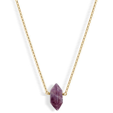 Mini Amethyst Point (gold) - Blooming Lotus Jewelry