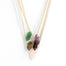 Mini Unakite Point (gold) - Blooming Lotus Jewelry