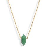 Mini Aventurine Point (gold) - Blooming Lotus Jewelry