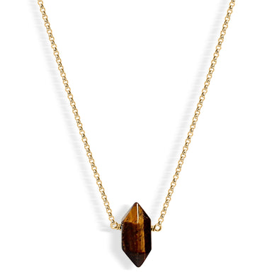 Mini Tiger's Eye Point (gold) - Blooming Lotus Jewelry