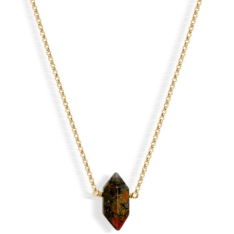 Herkimer Diamond Choker (gold)