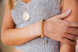 Little Black Dress Wrist Mala (gold) - Blooming Lotus Jewelry