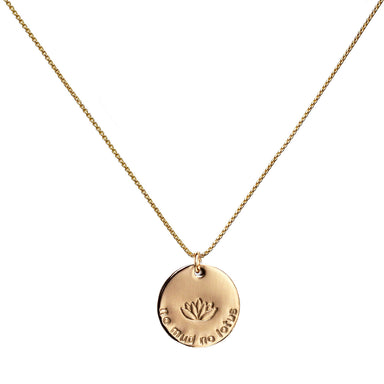 No Mud No Lotus Necklace gold Yoga Jewelry Blooming Lotus Jewelry