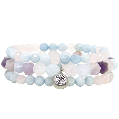 Om Yoga Jewelry Gemstone Bracelets - Blooming Lotus Jewelry