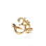 Gold Om Ring yoga jewelry - Blooming Lotus Jewelry