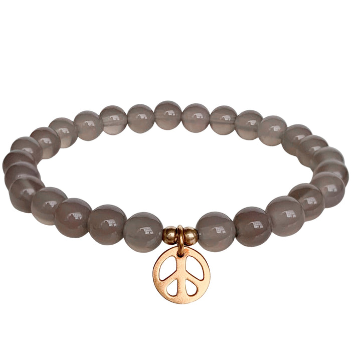 Peace Within Bracelet | Gray Agate | FINAL SALE