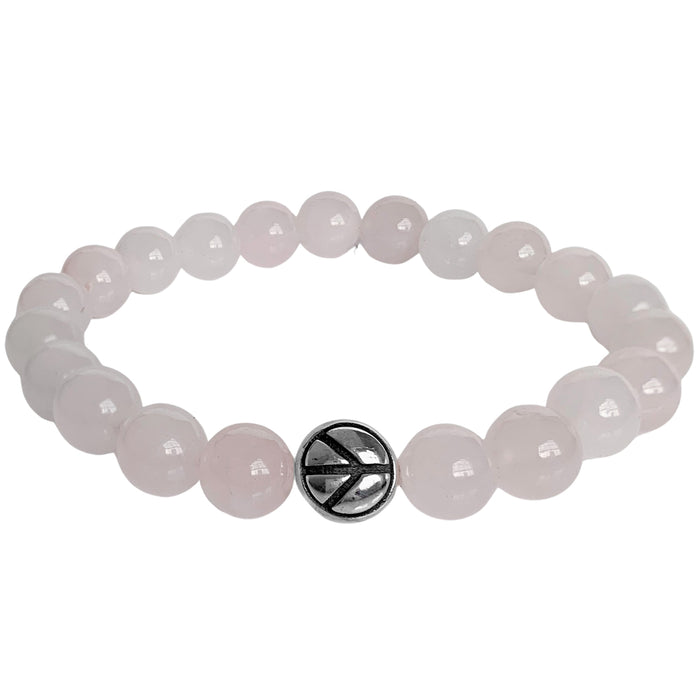 Peace + Love Bracelet | Rose Quartz | FINAL SALE