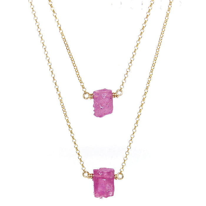 Pink Sapphire Nugget | Gold