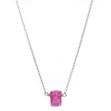 Pink Sapphire Nugget | Sterling