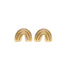 Rainbow Stud Earrings Gold Blooming Lotus Jewelry